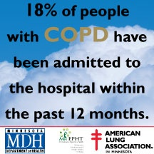 18% of people with COPD have been admitted to the hospital within the past 12 months - Scope of #COPD 2013 http://www.lung.org/associations/states/minnesota/news/new-scope-of-copd-in.html