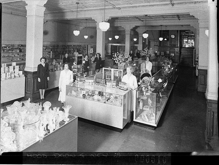 The Perfumery Department in Grace Bros Broadway,Sydney in 1938.