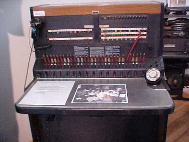 PBX Switchboard. The one I used at the police station was a little newer than this..but not much. lol