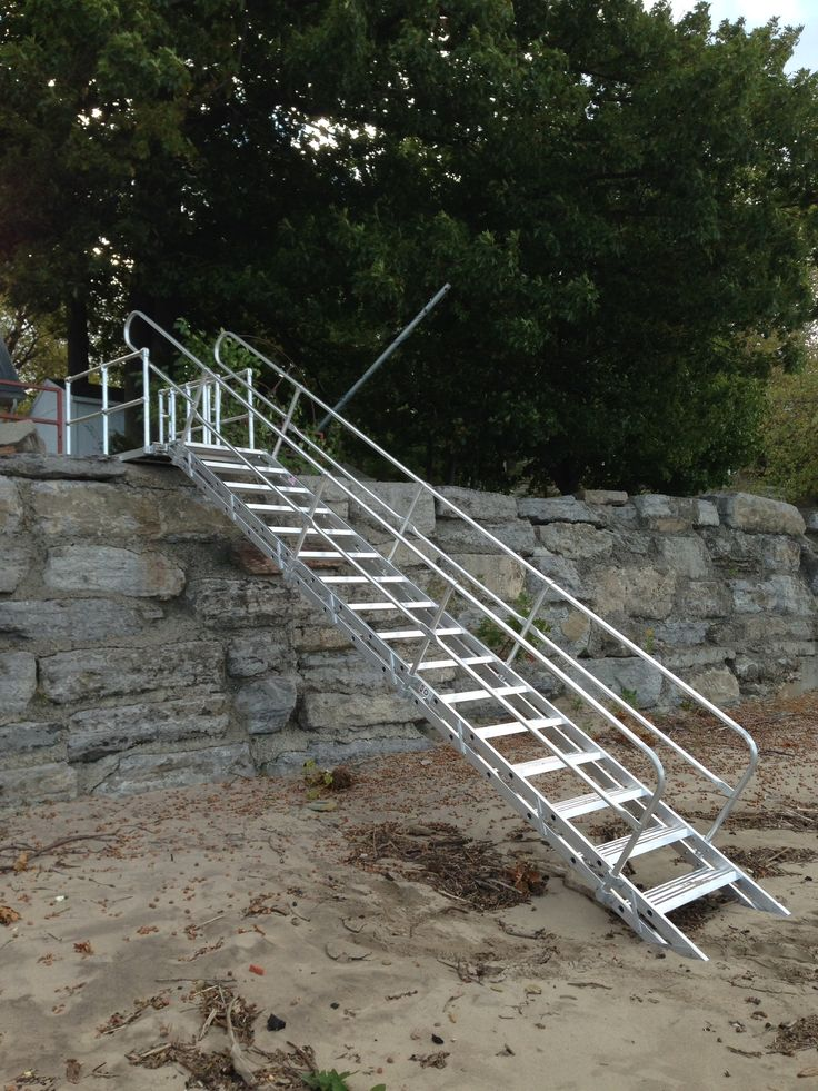 Platform And Stairway Beach Access For Lake Erie, NY! #lakeerie #stairway #