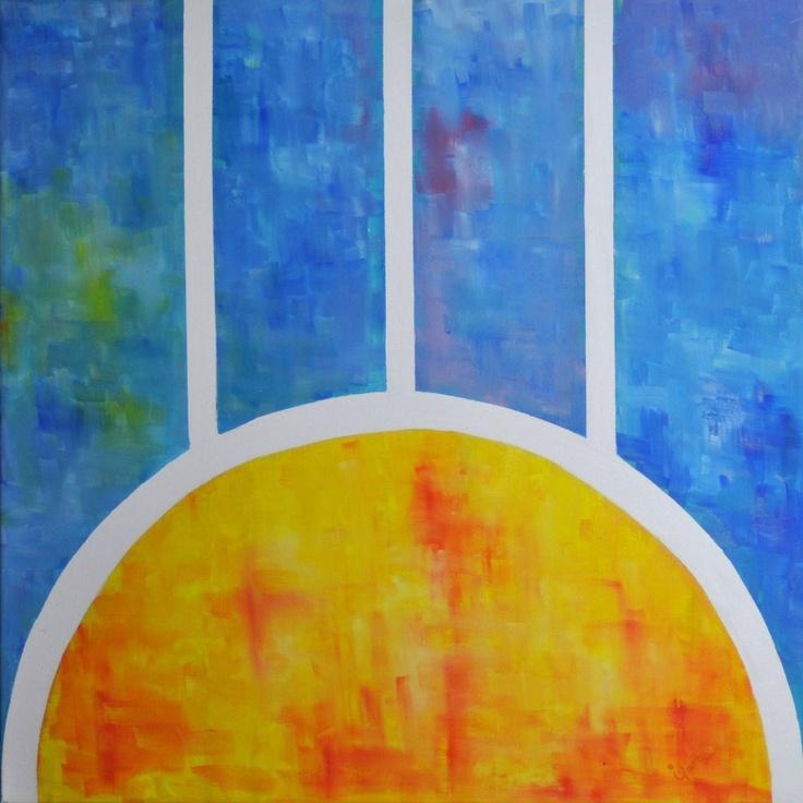 AMANECER    Medium oil on canvas Dimensions: 85 x 85 cm Colection: Rayito de sol Year: 2011 By: Laurelena Rodríguez  www.laurelena.com