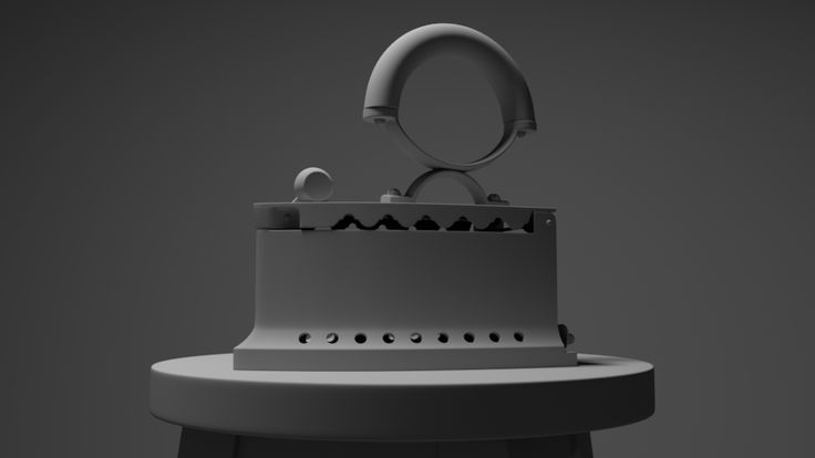 Charcoal Iron. Modeled in 3ds Max, rendered in Arnold