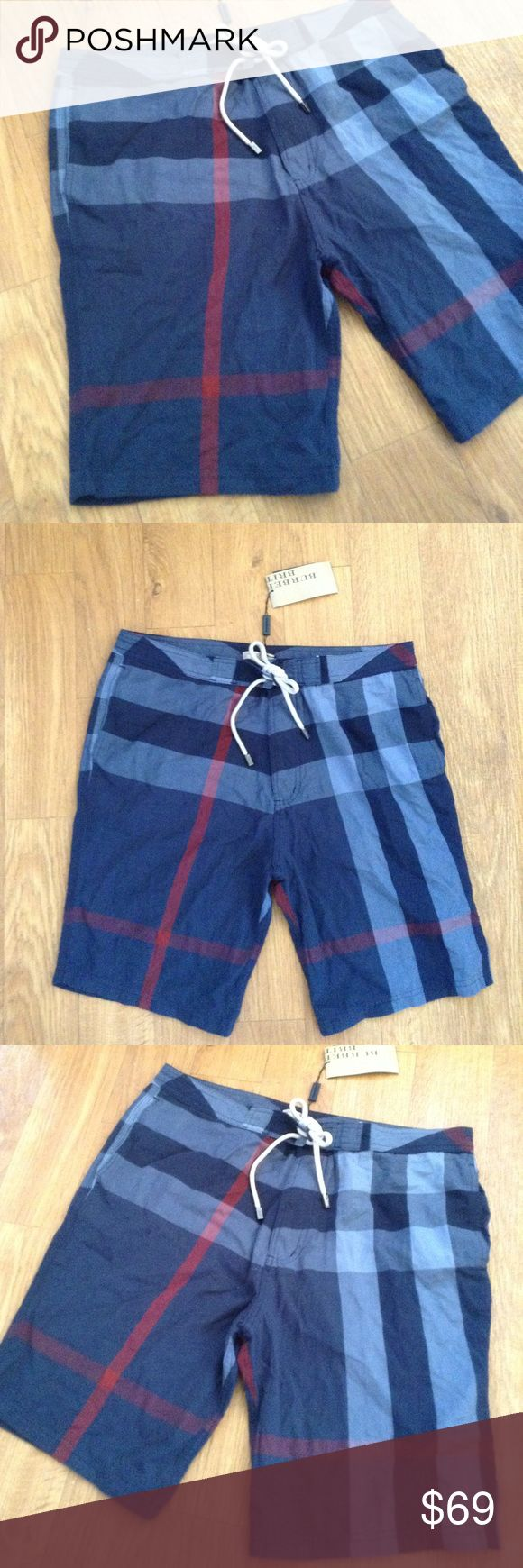 Burberry Men Shorts Swimming Board Short Surfer L Authentic!!! Brand new!!! Wow!!! Size XL. Back pocket.   Bundle up with my other items to get an extra discount and save on combined shipping!!     Burberry Shorts Athletic