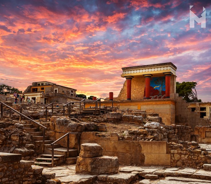 Considered Europe's oldest city, the prominent centre of the Minoan Civilisation and according to tradition, the birthplace of thrilling stories, such as the myths of Theseus and the Minotaur and that of Daedalus and Icarus, the magnificent Knossos was inhabited from the Neolithic period (7,000-3,000 BCE) and was abandoned after its destruction in 1,375 BCE, which marked the end of the glorious kingdom of the legendary king Minos.  #Κνωσσός #Knossos #Minoan #Crete #AncientGreece…