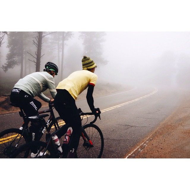 Into the fog and up to the top of the day's first big climb. The boys are all in good spirits despite the curveballs the weather keeps throwing us! #seekanddiverge photo: @kevinscottbatchelor #thereabouts #thereabouts2 #instagramtakeover