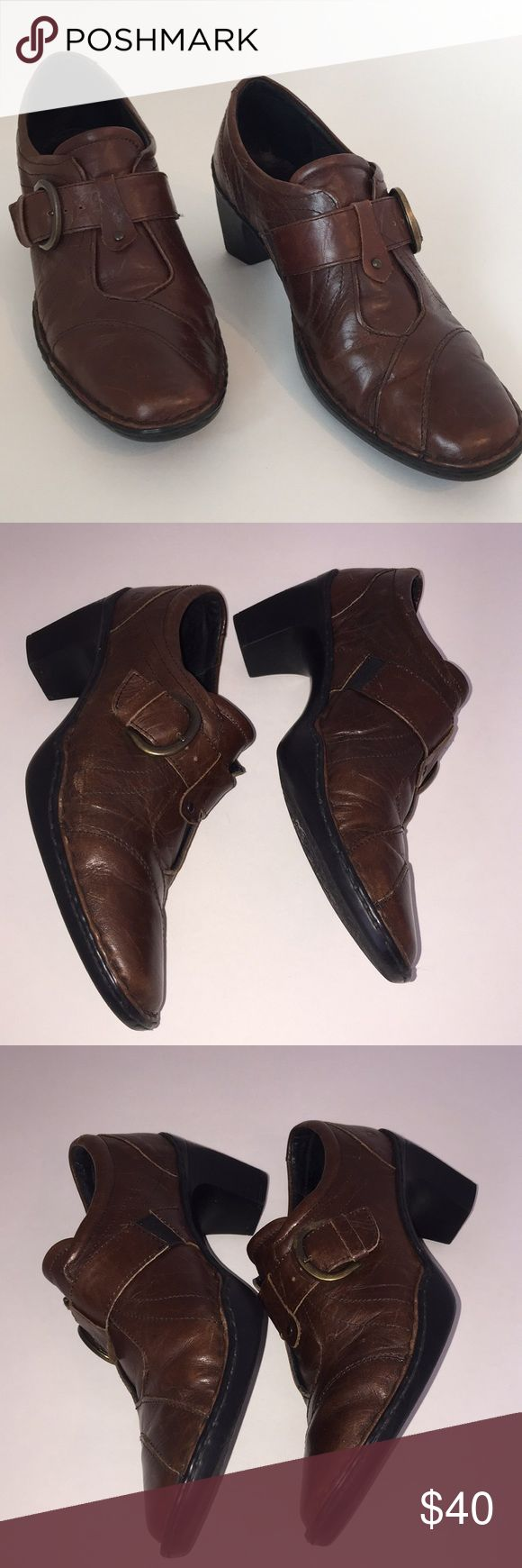 Josef Seibel shoes Adorable distressed leather shoes. Very soft leather. Known for their comfort these shoes have adjustable straps  size eu 39. Gently worn Josef Seibel Shoes
