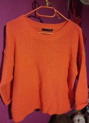 Ruuuudy sweter!  Kup mój przedmiot na #vintedpl http://www.vinted.pl/damska-odziez/swetry-z-dekoltem/12773530-piekny-rudy-sweter-atmosphere-l40