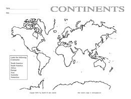 coloring pages of the 7 continents | 7 Continents Coloring Pages (PDF) | T E A C H E R S ...