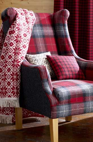 This distinctive fabric can create a focal point, and brings a homely feel to your living room