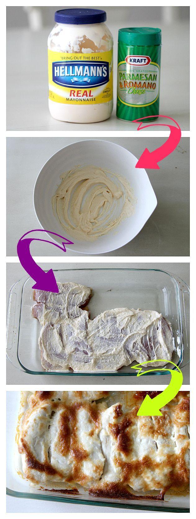 3 Ingredients! Mayo Parmesan Chicken tenders