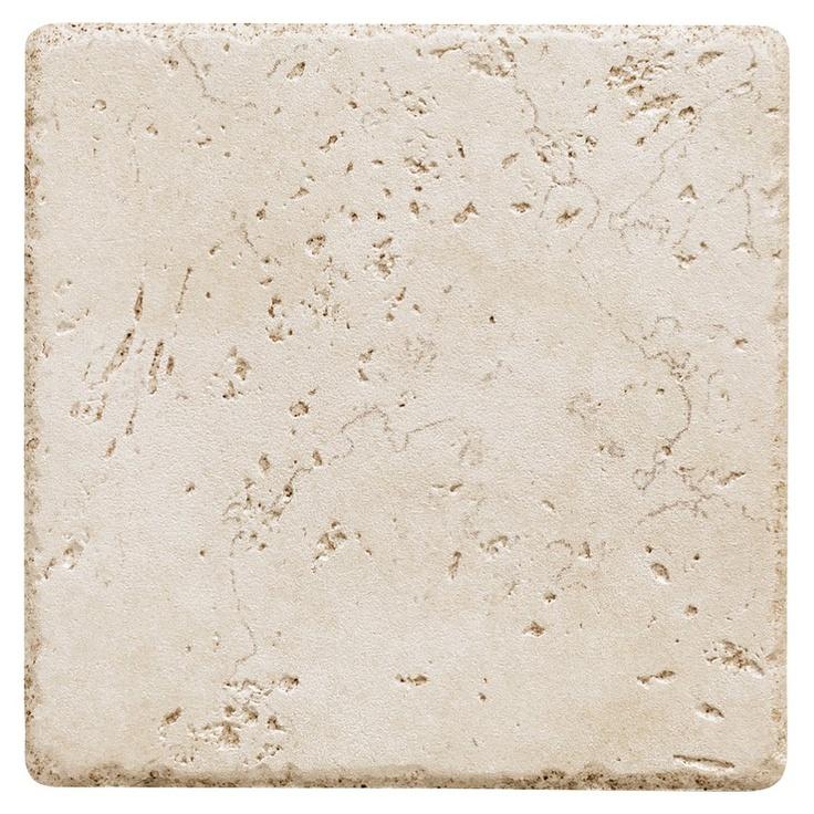 Del Conca 6 Quot X 6 Quot Rialto White Porcelain Floor Tile