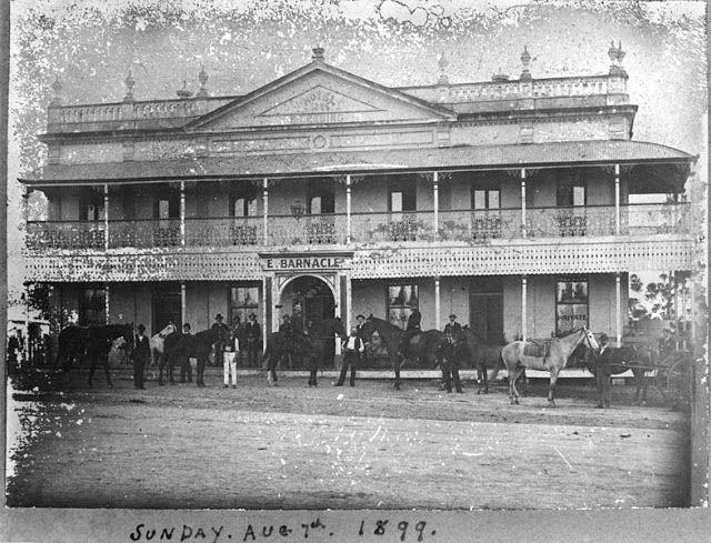 Crown Hotel, Rocklea - Brisbane 1899  I wonder if it was still standing in 1954 when my family had a corner store nearby?