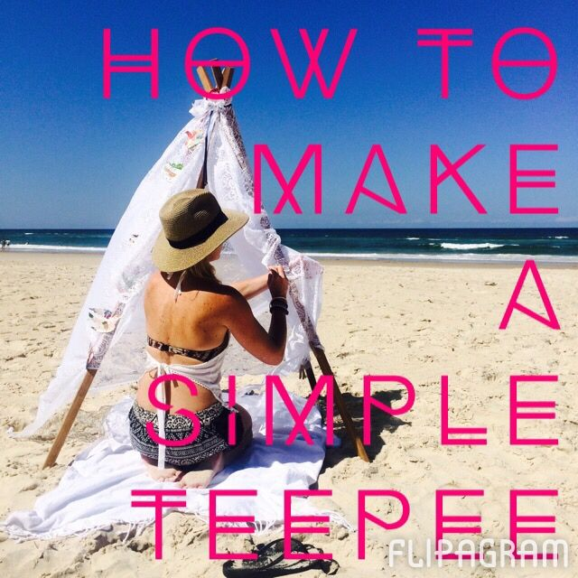 ▶ Play #flipagram Video How to make a simple Teepee {Tipi} - http://flipagram.com/f/QLLio1PTDt