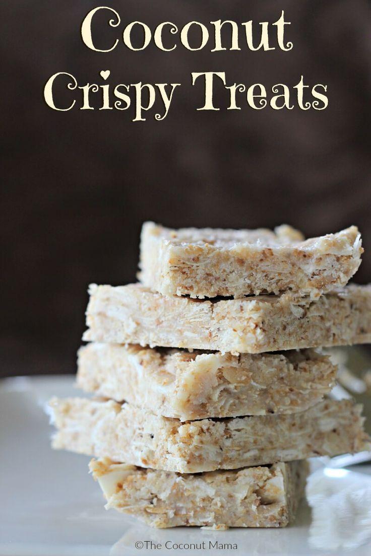 Coconut Crispy Treats - Skip the cereal and make a healthy crispy treat instead…
