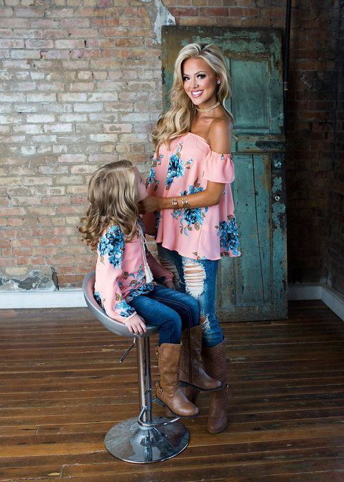 Mommy and Me Here To Stay Floral Top - Ryleigh Rue Clothing by Modern Vintage Boutique