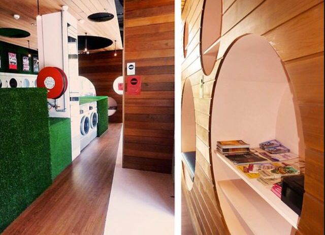 Fantastic Laundromat by GABBE interior architects.