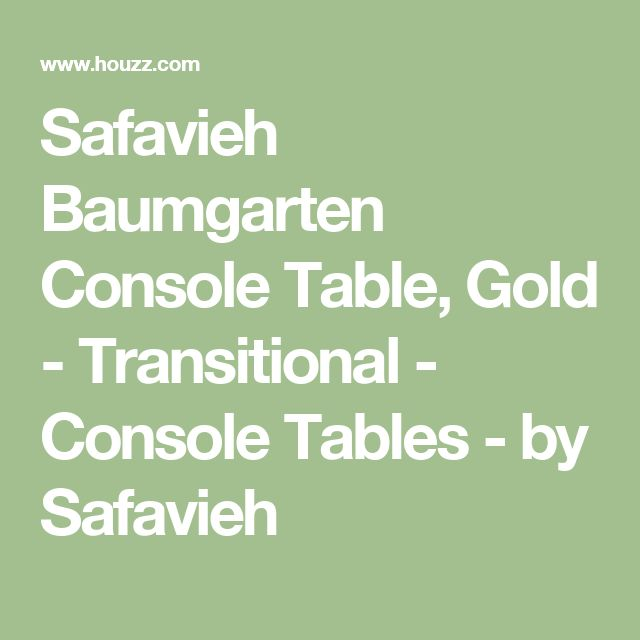 Safavieh Baumgarten Console Table, Gold - Transitional - Console Tables - by Safavieh