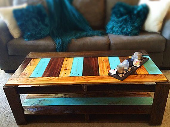 Re-purposed pallet and fence wood coffee table! Linked is an e-pattern containing a simple step-by-step break down for building the beautiful coffee table in the picture below. This coffee table is made using one pallet and 5-10 salvaged fence pickets.…