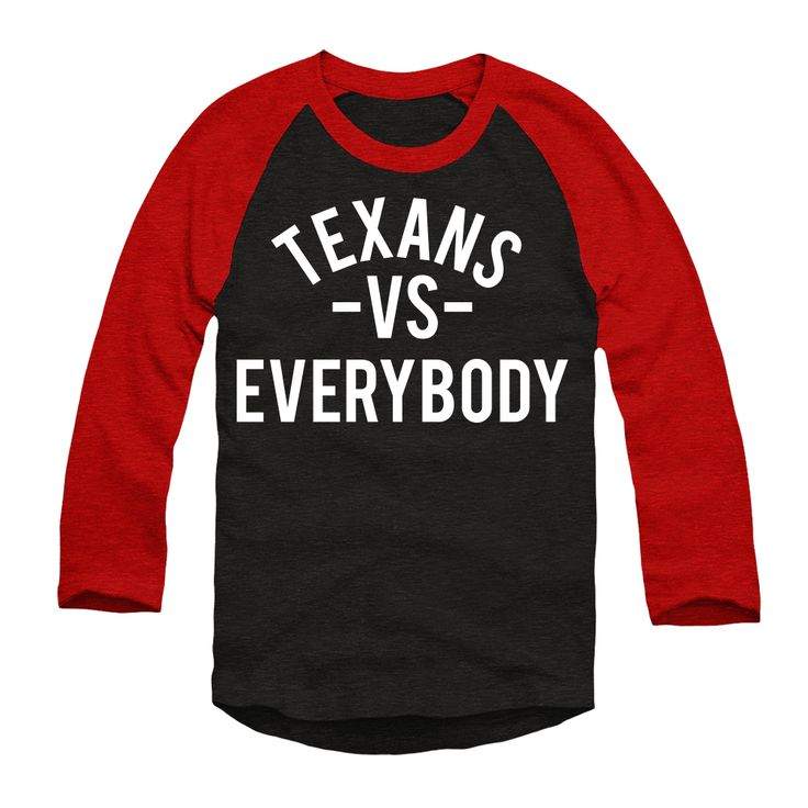 Houston Texans vs Everybody Unisex 3/4 Raglan T-Shirt
