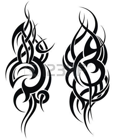 Maori stijl tattoo patroon voor een schouder Stockfoto