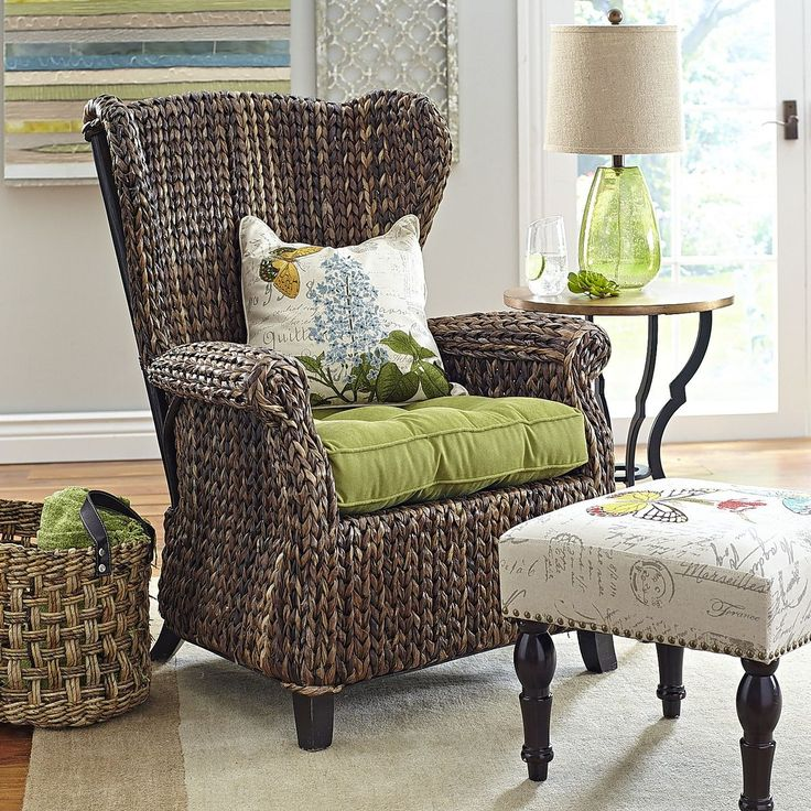Graciosa Wing Chair - Brown | Pier 1 Imports