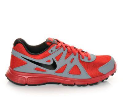 Boys' Nike Revolution 2 3.5-7 Anth/Bk/Vlt/Pim   Shoe Carnival