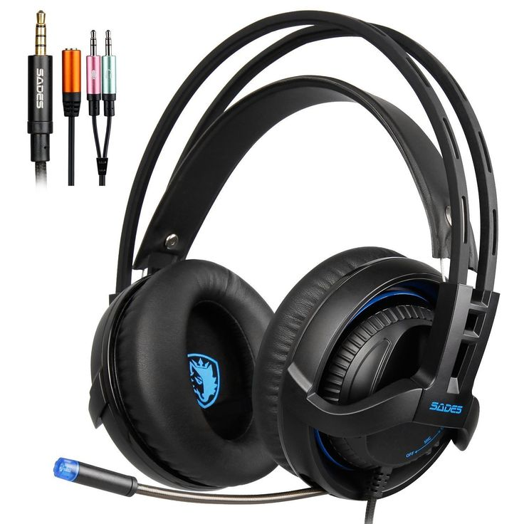 SADES SA935 New Deep Bass headphones with Retractable Mic 35MM Jack PC Gaming Headset Stereo Professional headsets