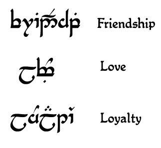 ALL Elvish tattoo requests here - Lord of the Rings Fanatics Forum - Page 1 -- Since I'm a HUGE LOTR fan