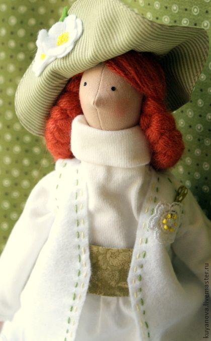 Белый шиповник - тильда,кукла Тильда,текстильная кукла,интерьерная кукла