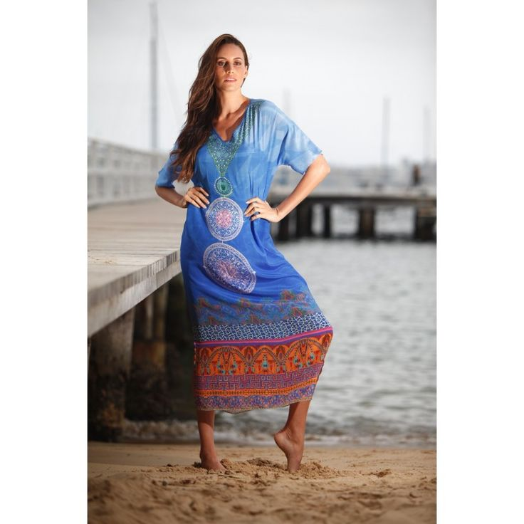 Babylon Silk Dress-Azure Blue. Available online at bohochic.com.au or in store at Boho Chic Boutique 1/111 Lawrence Hargrave Dr, Stanwell Park NSW 2508. Ph: 0242943111