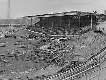 Galgenwaard, home of FC Utrecht. Demolished by supporters for the renovation.