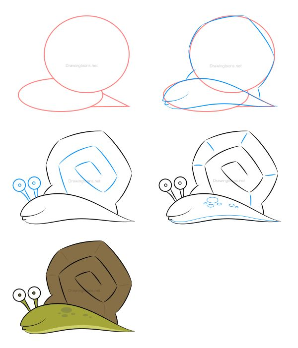 How to draw a snail - Click on the illustration above to learn how to draw this character and learn a few exclusive drawing techniques not displayed in this image!