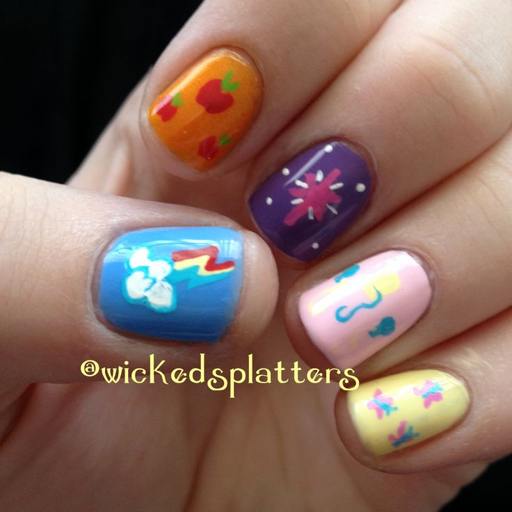 27 best my little pony nails images on pinterest make up nail friendship is magic my little pony nails prinsesfo Gallery