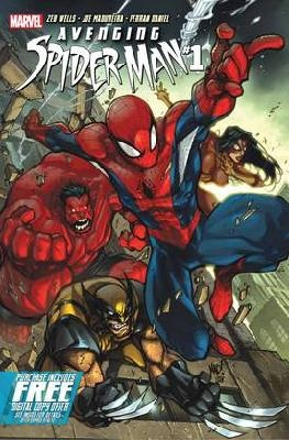 Avenging Spider-Man #1 Zeb Wells Joe Madureira---> shipping is $0.01Comics Art, Avengers Spiders Man, Red Hulk, Comics Book, Avengingspiderman 1 Covers Jpg, Marvel Comics, Avengers Spiderman, Book Covers, Marvel Avengingspiderman