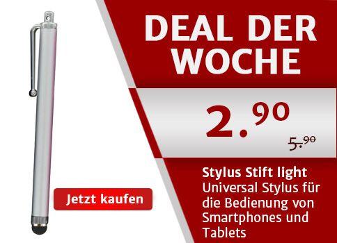 Deal der Woche: Der Stylus Stift für Smartphones in silber für CHF 2.90! Nur diese Woche auf yourmobile.ch