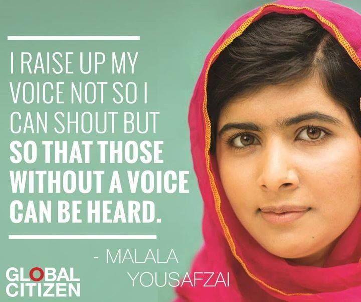 I raise up my voice not so i can shout but so that those