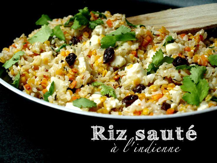 Riz au tofu soyeux sauté à l'indienne