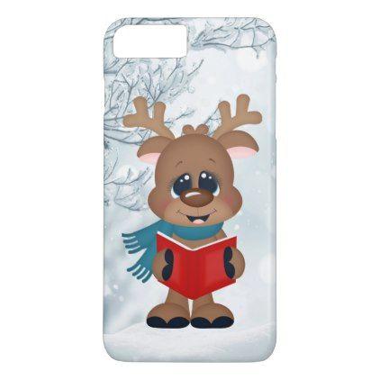 #Christmas caroling reindeer festive seven plus iPhone 7 plus case - #Xmas #ChristmasEve #Christmas #merry #xmas #family #holy #kids #gifts #holidays #Santa