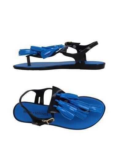 MELISSA + SALINAS Women's Toe strap sandal Black 11 US