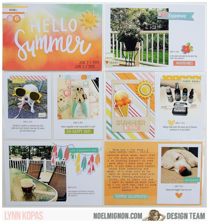 Project Life page using @noelmignon Pool Party Daily Diary Kit. #projectlife #pocketscrapbooking #pocketpages