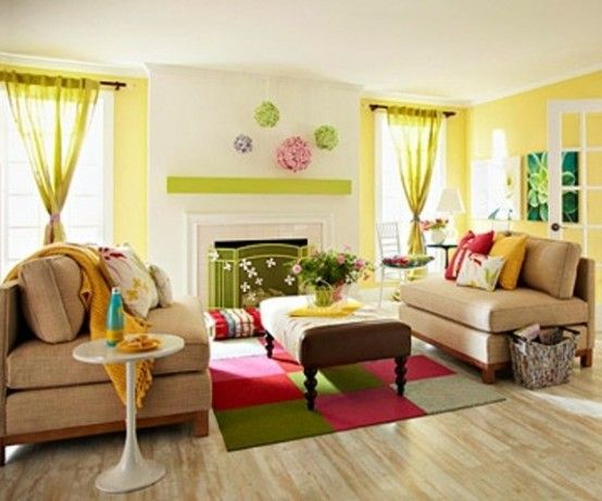 Charming Colorful And Airy Spring Living Room !