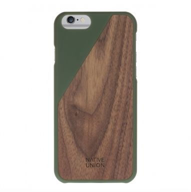 Native Union Clic Wooden iPhone 6(s) olijfgroen  SHOP ONLINE: http://www.purelifestyle.be/shop/view/technology/iphone-beschermhoezen/native-union-clic-wooden-iphone-6s-olijfgroen