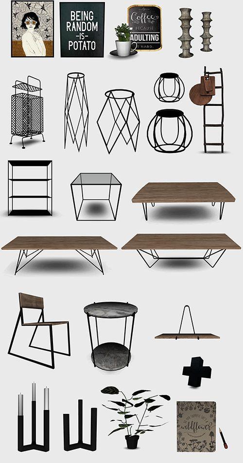 The Sims 4 CC    sanoysims    Random gift Furniture Set