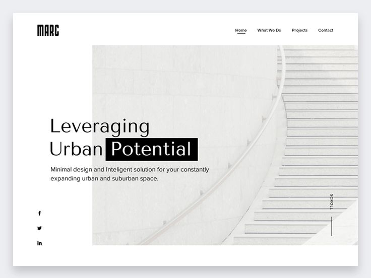 Marc landing page concept by inthink.studio