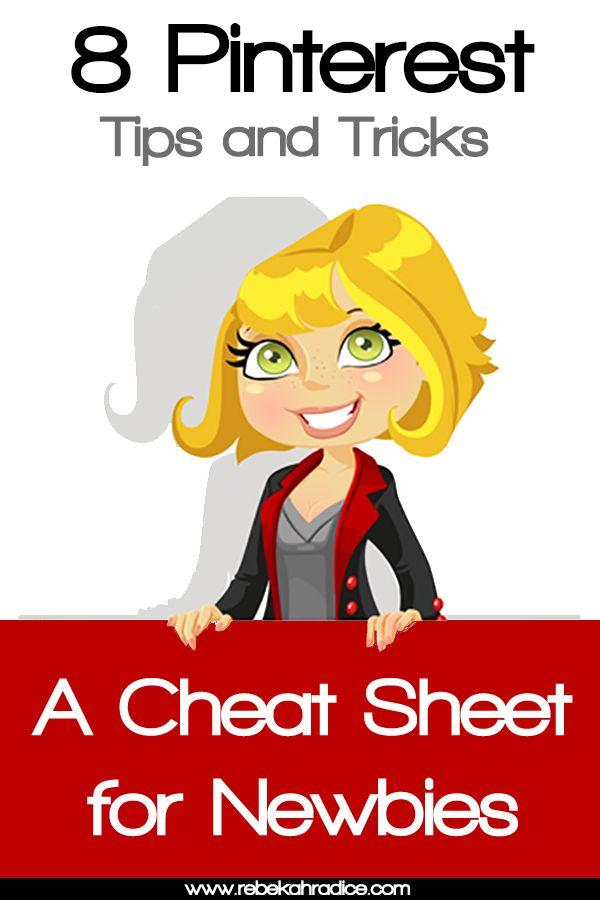 Pinterest tips & cheat sheet for newbies
