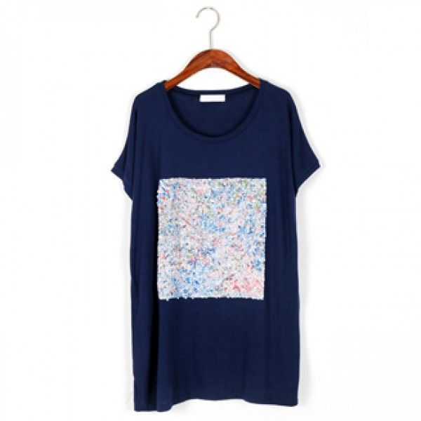 Today's Hot Pick :Sequined T-Shirt http://fashionstylep.com/P0000XGQ/ju021026/out Sparkle like a true star in this simple tee. This offers a cewneck, short-sleeves, relaxed fit, and a pretty sequined square patch. Wear this tee with distressed jeans and wedge boots.