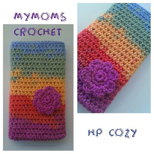 Crochet cozy for sony xperia using alize diva yarn from turkey by myMoms.crochet