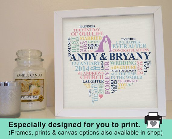 A Personalised Wedding Gift Which Captures The Special Memories Of Day This Unique Art Is Perfect Present For Newly Wed Couple