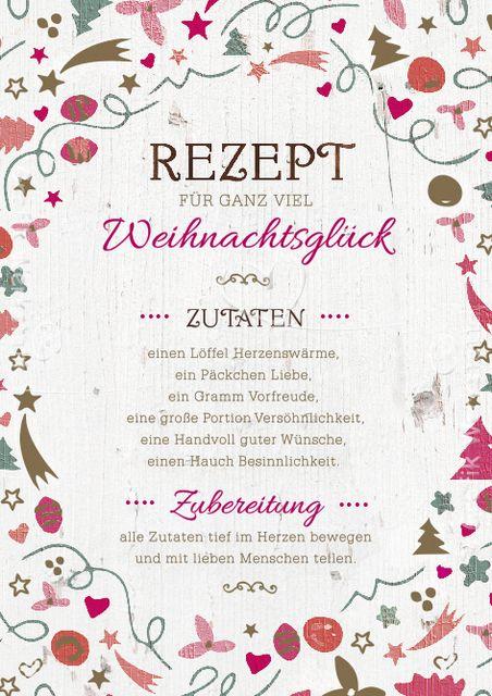 Artikel - Grafik Werkstatt Bielefeld Rezept für Weihnachten, schöne Grußkarte, christmas, german Weihnachtskarte für Whatsapp, Facebook Weihnachtszutaten Weihnachten