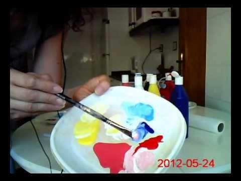 MEZCLAR COLORES. Cómo usar el blanco para aclarar colores. Mix colors. W...